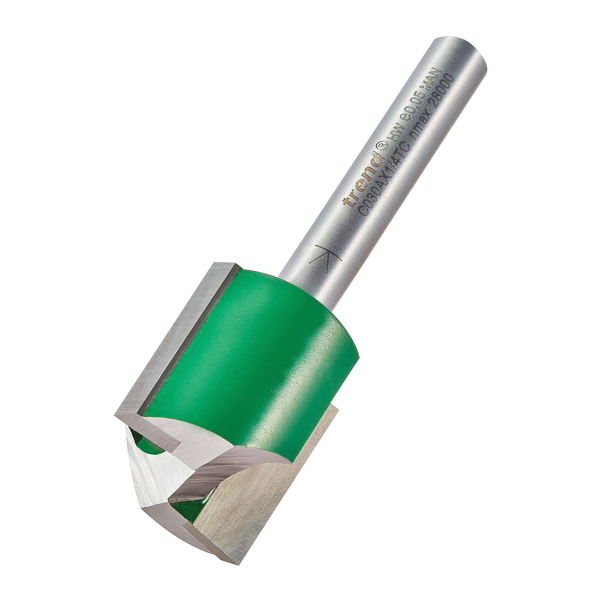 """TREND TWO FLUTE STRAIGHT ROUTER CUTTER C030A 20MM (1/4"""" SHANK)"""