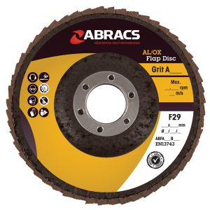 METAL FINISHING FLAP DISC - ALUMINIUM OXIDE 115 X 22.23MM X  40G