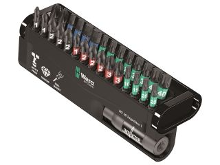 WERA SCREWDRIVER INSERT BIT SET - BITCHECK 30 IMPAKTOR 1 PH/PZ/TX/HEX IMP DC 30PC