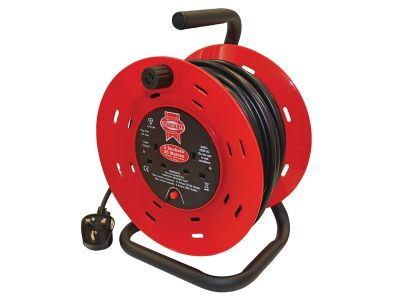 CABLE REEL 25M 240V TWIN SOCKET 13AMP
