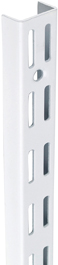 TWIN SLOT UPRIGHT - WHITE 1220MM