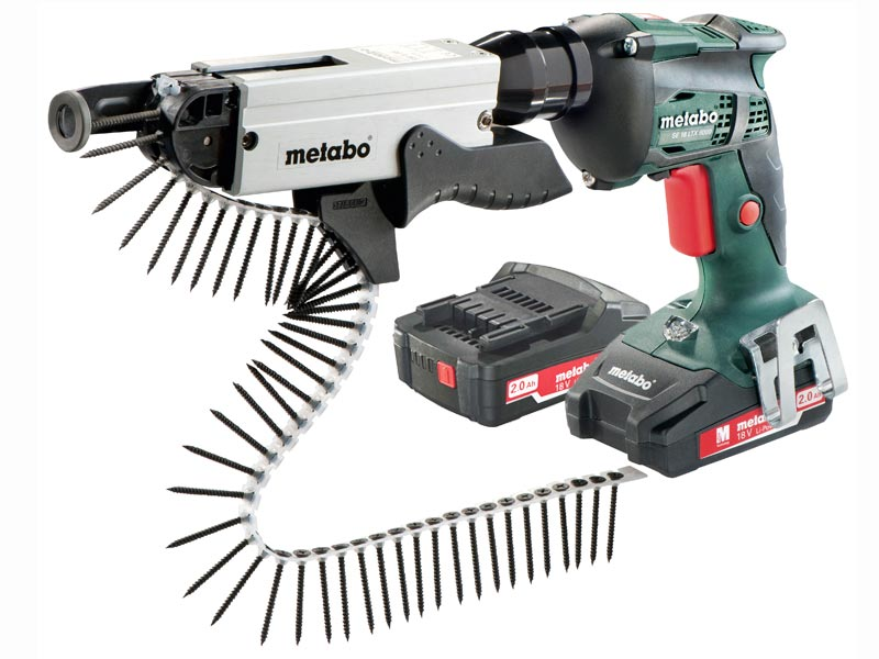 METABO DRYWALL SCREWDRIVER 2 X 2.0AH KIT, SCREW RANGE 25MM - 55MM