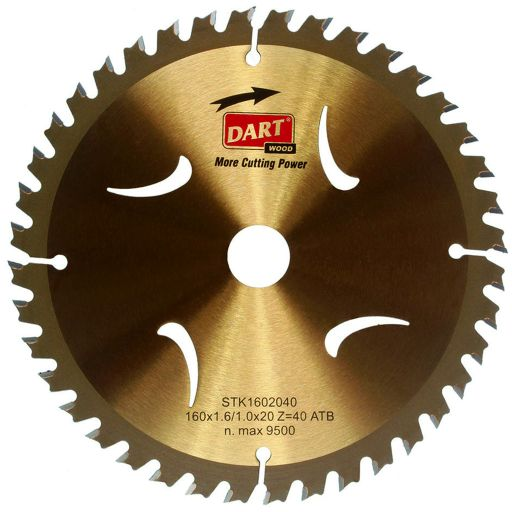 GOLD CIRCULAR SAW BLADE TCT ATB 165 X 10 X (1.5/1.0MM) X 16T COARSE FINISH WOOD
