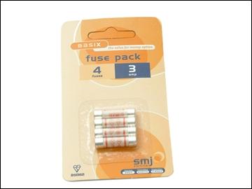 FUSES  3 AMP (PK 4)