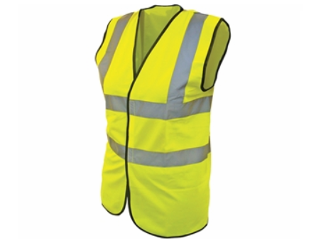 HI-VIS SLEEVELESS WAISTCOAT - CLASS 2 YELLOW (MEDIUM)