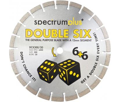 OX SPECTRUM DIAMOND BLADE - GENERAL PURPOSE DCX DOUBLE SIX 300 X 20MM (STIHL SAW COMPATIBLE)