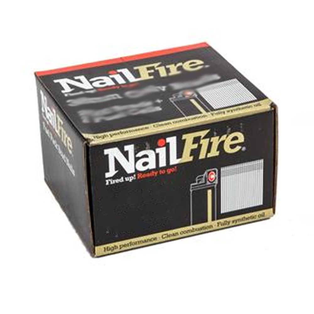 NAILFIRE 2ND FIX STRAIGHT STAINLESS STEEL BRAD & FUEL PACK 64MM (TUB OF 2000)