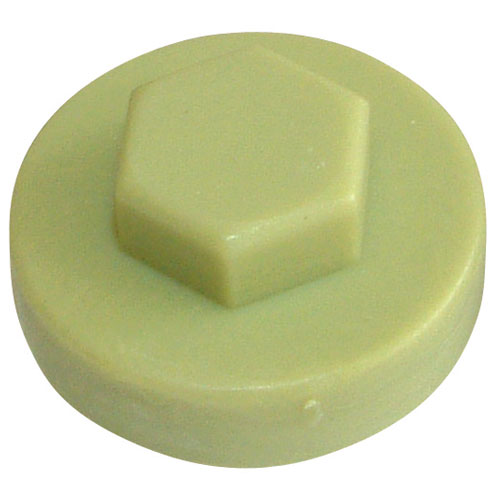 HEX-WASHER COLOUR CAP 16MM OLIVE GREEN