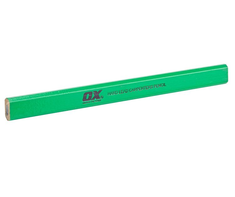 OX CARPENTERS PENCIL (PACK OF 10 WITH SHARPENER)
