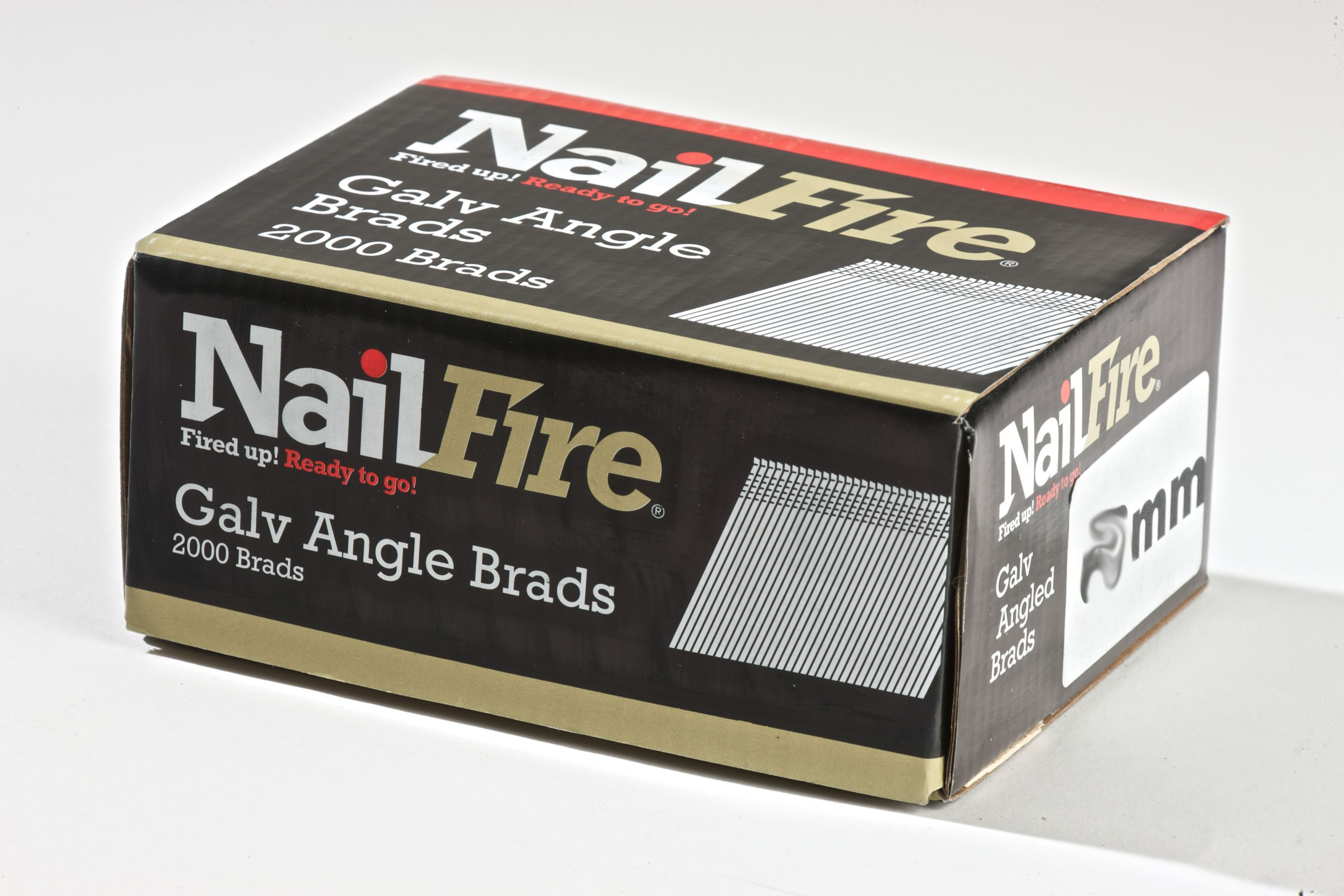NAILFIRE 2ND FIX ANGLED E-GALV BRAD & FUEL PACK 38MM (TUB OF 2000)
