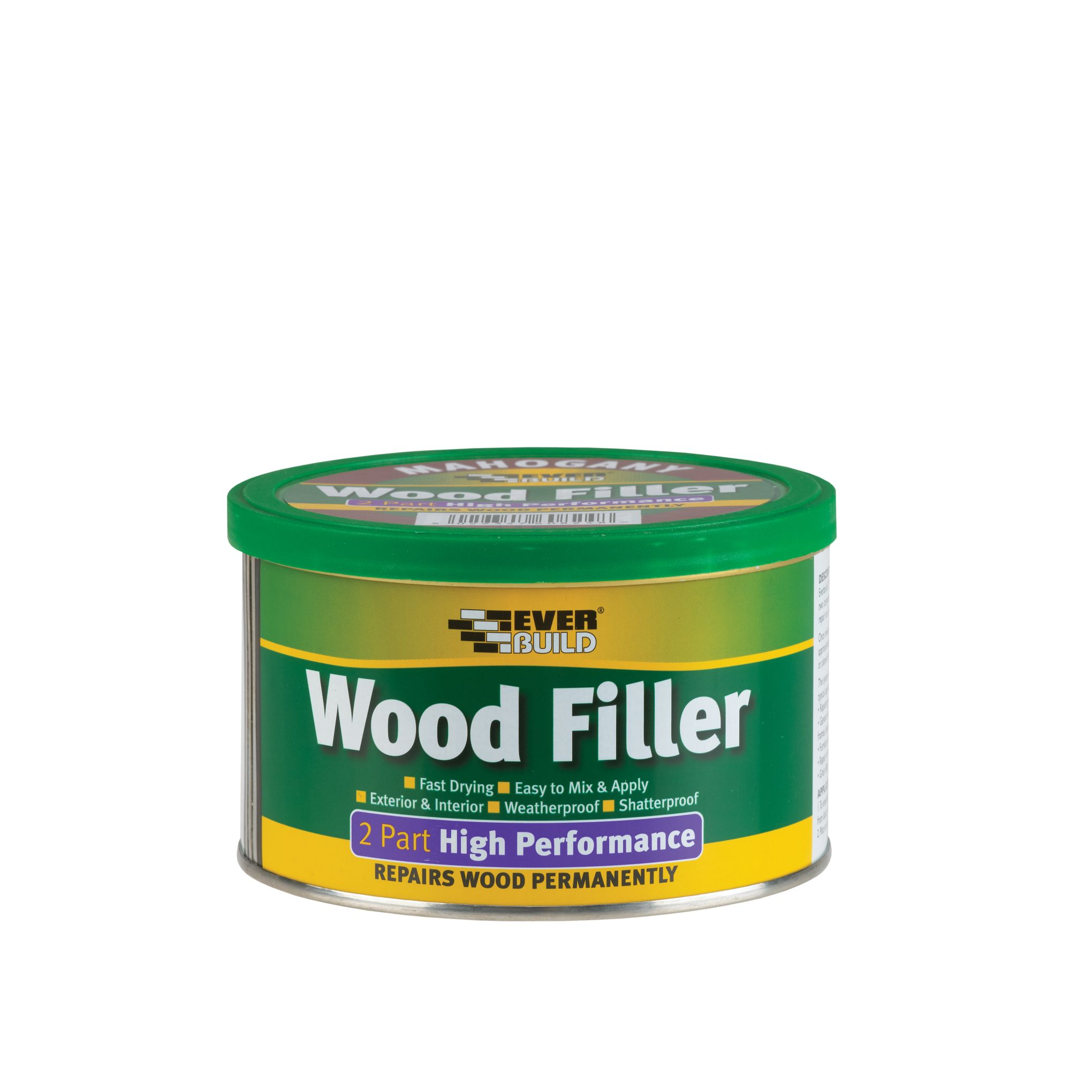 HIGH PERFORMANCE 2-PART WOOD FILLER 500G OAK