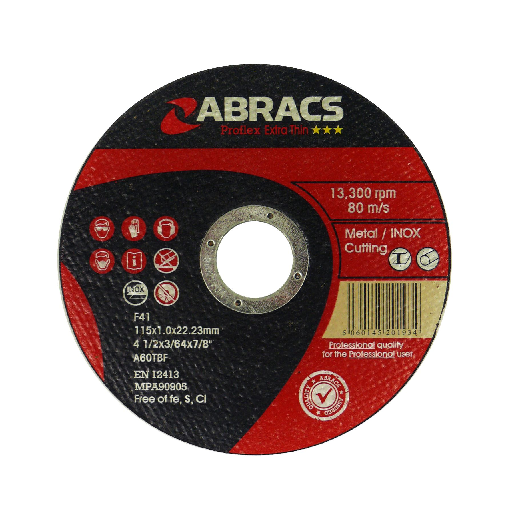 THIN METAL CUTTING DISC - FLAT 115 X 1.0 X 22.23MM