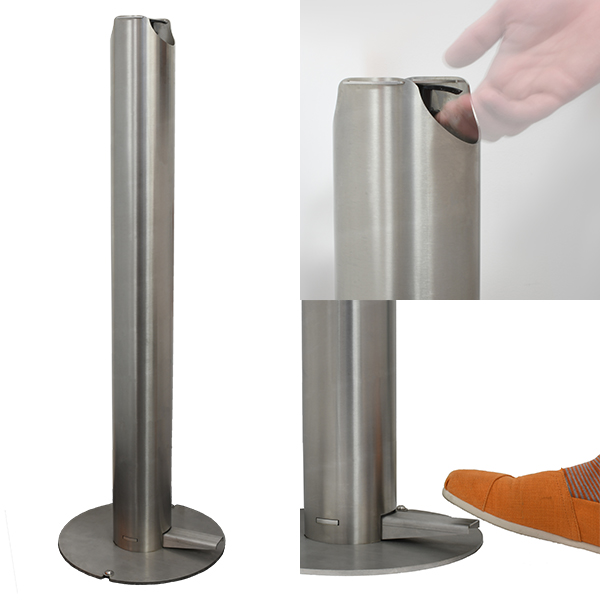 STAINLESS STEEL POST HAND SANITISER DISPENSER