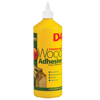 D4 PREMIUM WATERPROOF PVA WOOD ADHESIVE 1L
