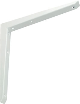 "MITRED SHELF BRACKET - WHITE 14"" X 14"""