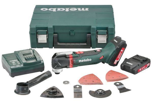 METABO CORDLESS MULTI-TOOL KIT C/W CASE 2 X 3.5AH LIHD, CHARGER & ACCESSORIES