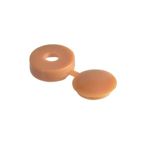 HINGED COVER CAP - LIGHT BROWN/CARAMEL 5.0-6.0 (10-12G)