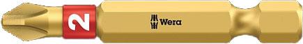 SCREWDRIVER INSERT BIT - WERA PHILLIPS PH2 X  50MM BI-TORSION EXTRA HARD (GOLD)