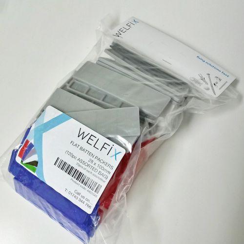 FLAT BATTEN PACKERS 28 X 100 X 1-6MM (MIXED PACK OF 120)
