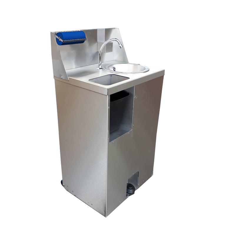 STAINLESS STEEL MOBILE HAND WASH STATION