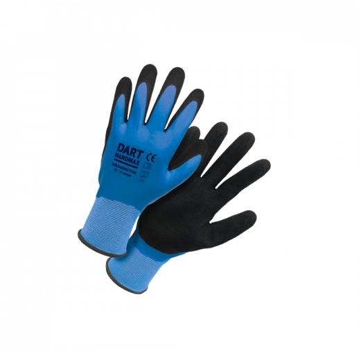HANDMAX BLUE WATERPROOF THERMAL LATEX GLOVE SIZE 9 (L)