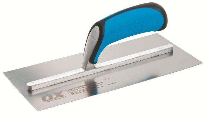 "OX PRO STAINLESS STEEL PLASTER'S TROWEL 120 X 280MM (11"")"