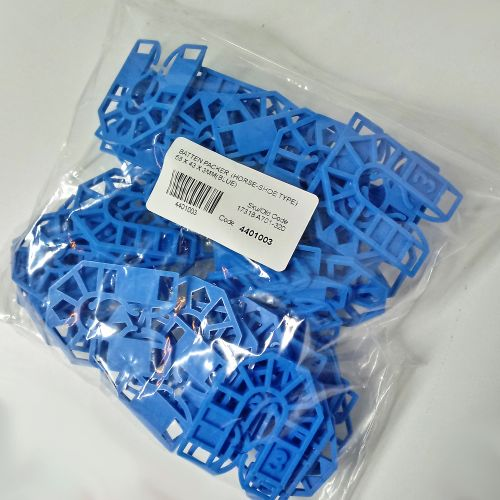 HORSESHOE BATTEN PACKER  55 X 43 X  3MM (BLUE)