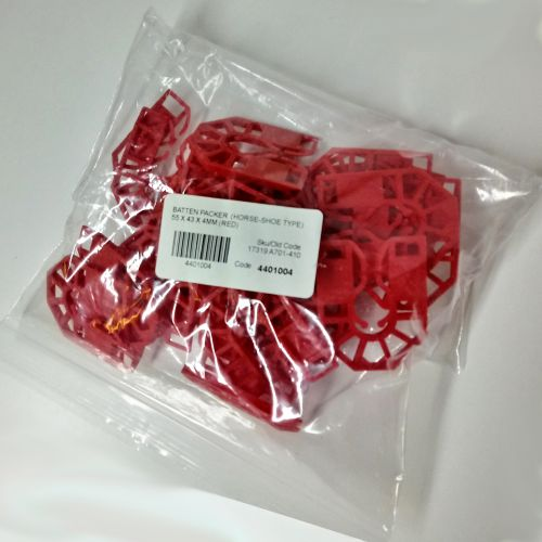 HORSESHOE BATTEN PACKER  55 X 43 X  4MM (RED)