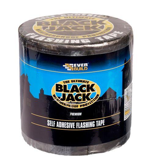 BLACK JACK  FLASHING TAPE 10M X 75MM ROLL BLACK