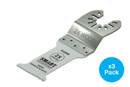 SMART TRADE - 32MM (3 PACK) RAPID WOOD MULTI-TOOL BLADE