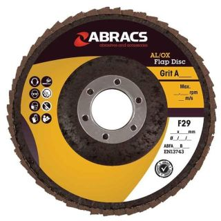 METAL FINISHING FLAP DISC - ALUMINIUM OXIDE 115 X 22.23MM X  60G