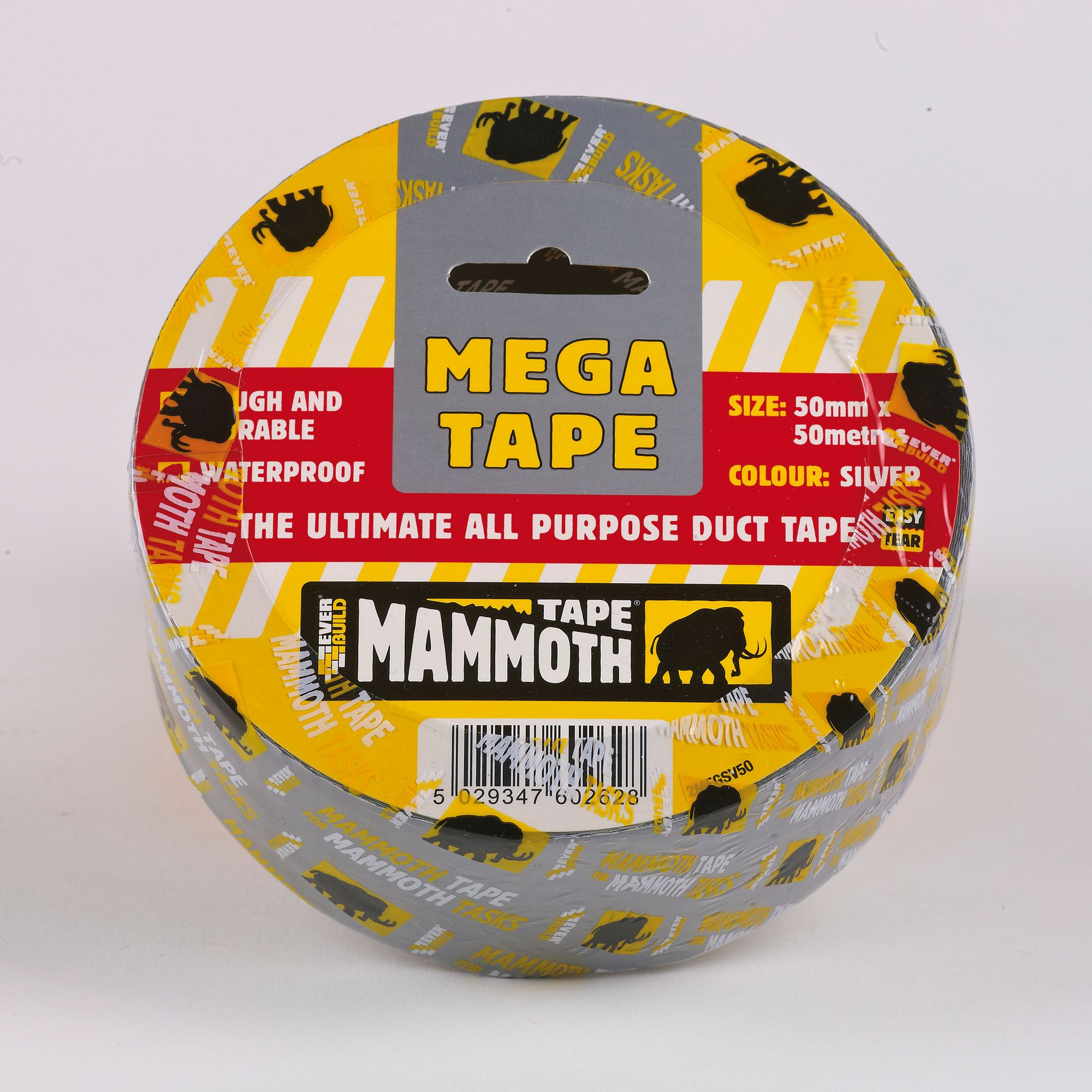 MAMMOTH MEGA DUCT TAPE 50MM X 50MTR SILVER