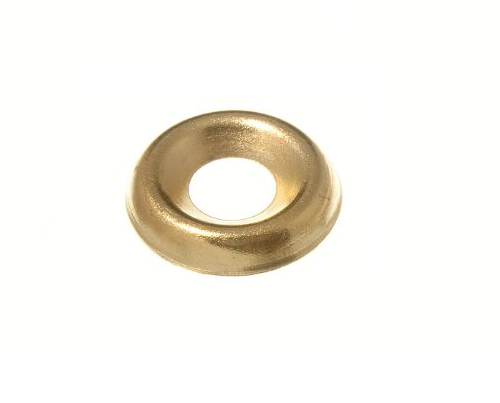 SURFACE SCREW CUP WASHER - 5.0 (9-10G) BRASS PLATED