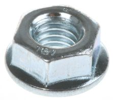 HEXAGON SERRATED FLANGE NUT - BZP M 4