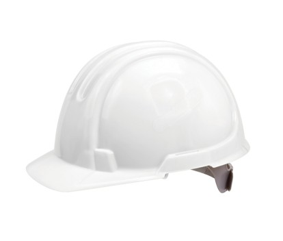 OX STANDARD UNVENTED SITE HARD HAT/SAFETY HELMET WHITE