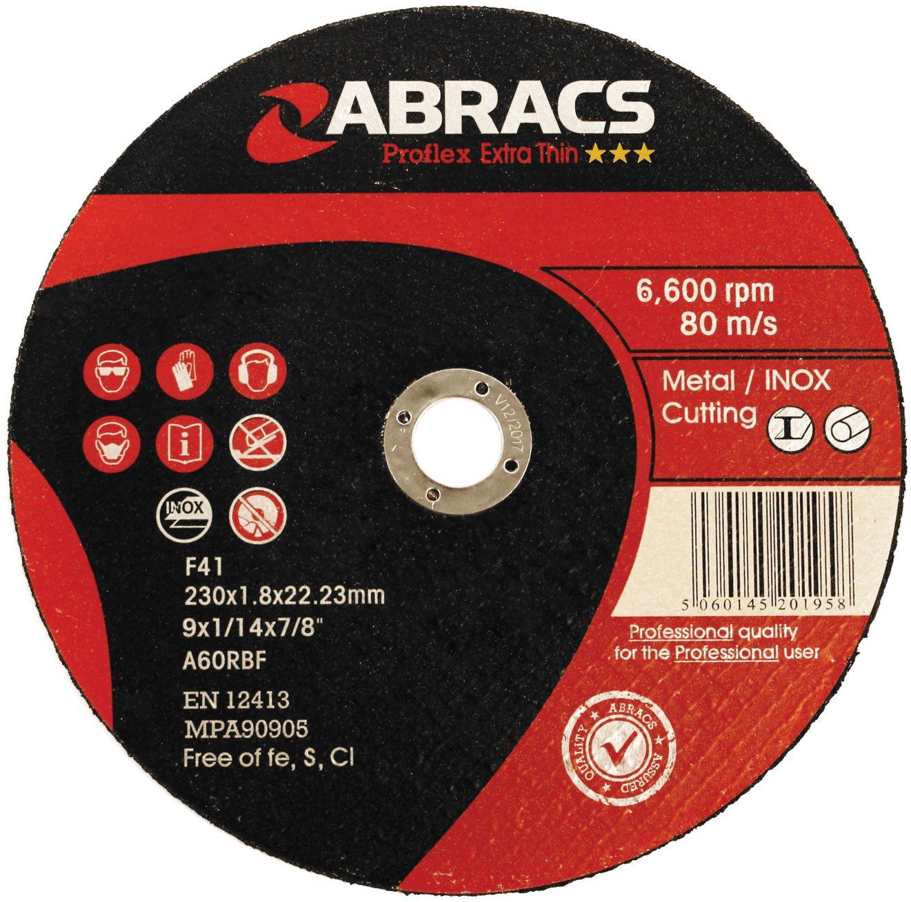 THIN METAL CUTTING DISC - FLAT 125 X 1.0 X 22.23MM