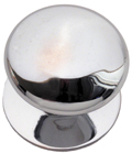 CUPBOARD KNOB 25MM SATIN CHROME