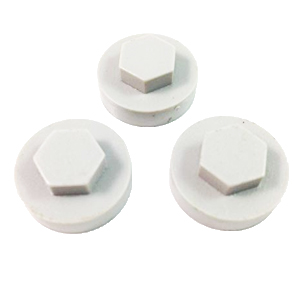 HEX-WASHER COLOUR CAP 16MM WHITE