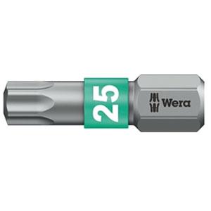 SCREWDRIVER INSERT BIT - WERA TORX TX15 X  25MM BI-TORSION EXTRA TOUGH (SILVER - IMPACT RESISTANT)