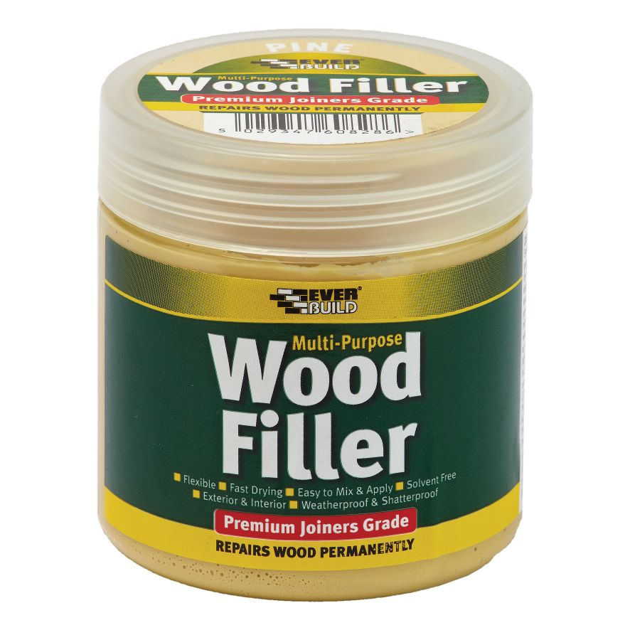 PREMIUM EXTERIOR READY MIXED WOOD FILLER 250ML WHITE
