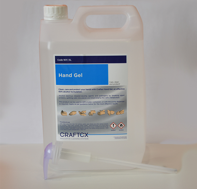 ANTI-BACERIAL HAND SANITISER GEL 5L WITH HAND PUMP CAP (60% ALCOHOL)