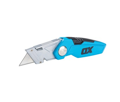 OX PRO FIXED FOLDING KNIFE (WITH SPARE BLADE STORAGE IN HANDLE)