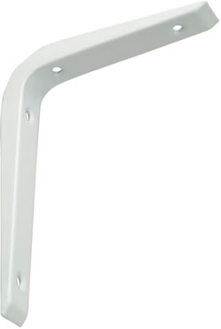 REINFORCED SHELF BRACKET 200 X 150MM WHITE