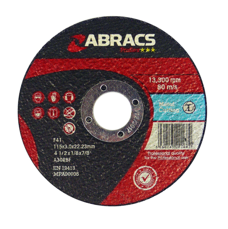 METAL CUTTING DISC - FLAT 125 X 3.0 X 22.23MM