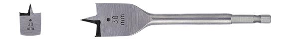 FLAT SPADE WOOD BIT 38 X 152MM