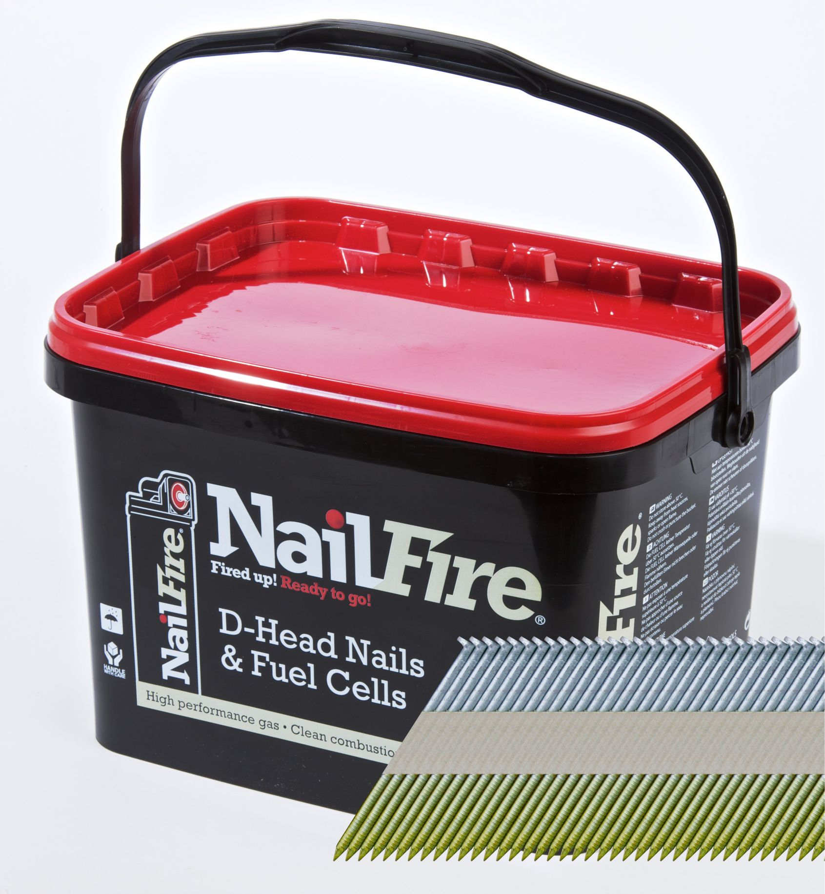 NAILFIRE 1ST FIX E-GALV SMOOTH NAIL & FUEL PACK 90MM (TUB OF 2000)