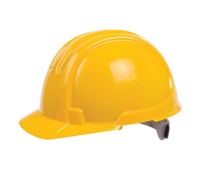 OX STANDARD UNVENTED SITE HARD HAT/SAFETY HELMET YELLOW