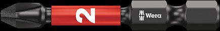 SCREWDRIVER INSERT BIT - WERA PHILLIPS PH2 X  50MM IMPAKTOR DIAMOND